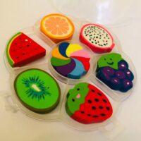 7pc Fruit Erasers