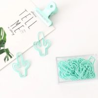 Mint Green Cactus Paperclips