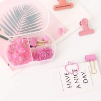 Paperclip set – Pink