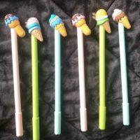 Ice cream topped pens