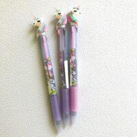 Tri-colour Unicorn Ballpoint Pens