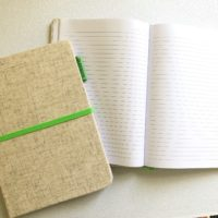 Eco Fabric Ruled A5 notebook