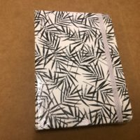 A6 Lined Notebook – B&W Bamboo Leaves