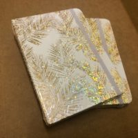 A6 Lined Notebook – Gold leaves