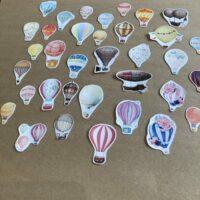 Hot Air Balloons Journal Stickers