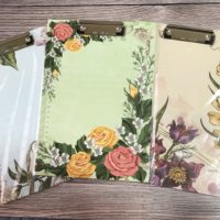 Floral clipboard