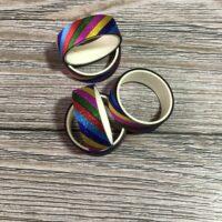 5pc rainbow glitter washi