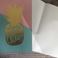 A5 foiled lined notebook
