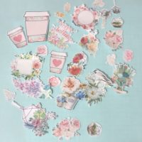 Floral journal stickers