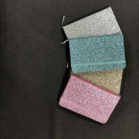 A6 lined glitter notebook