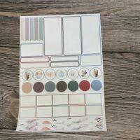 A4 sheet planner stickers