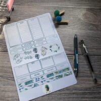 A4 planner sticker sheet