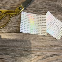 foiled journal stickers – daily tasks