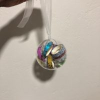 washi tape christmas bauble