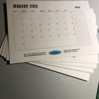 custom A3 desk Calendar