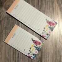 Floral Notepad set