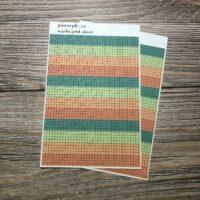 Grid Washi Sheet
