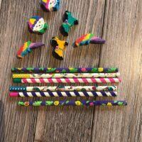 Carnival pencil and eraser set