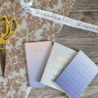 3pc A6 soft cover notebook