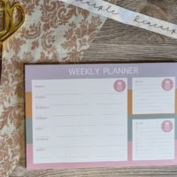 A4 weekly Planner