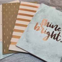 4pk B5 Lined notebooks – Rose Gold
